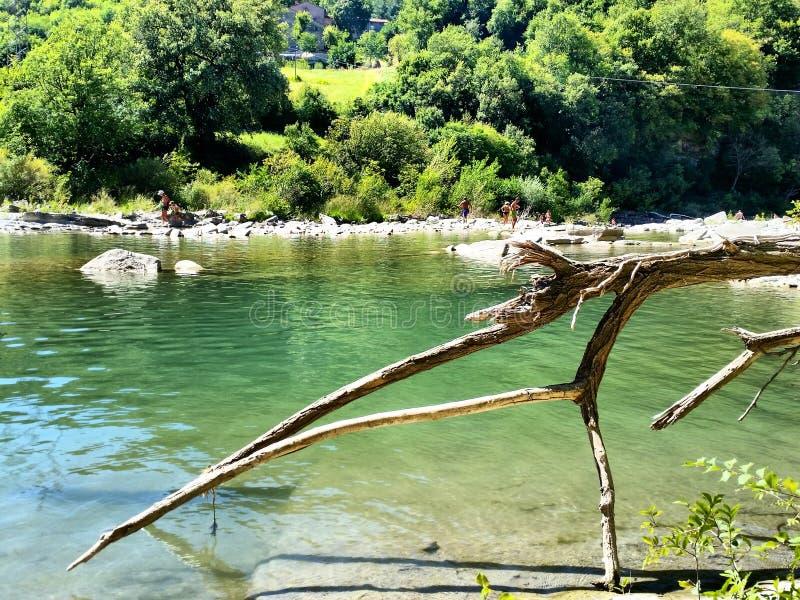 Paysage Mugello Florence Firenzuola Santerno de rivière image libre de droits