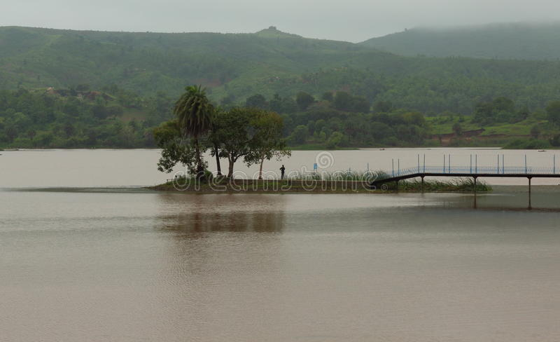 Paysage naturel, lac de collecte de kagdi, banswara, Ràjasthàn, Inde photos stock