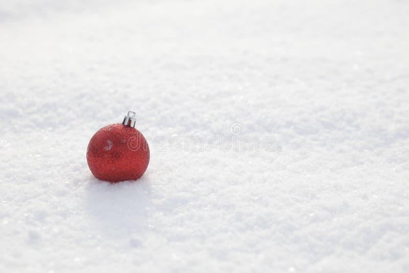 Paysage neigeux de décoration de Noël photos stock