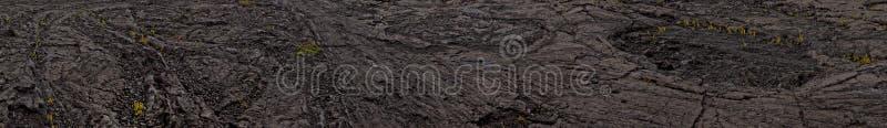 Paysage noir de lave - volcan de Kilauea, Hawaï photographie stock