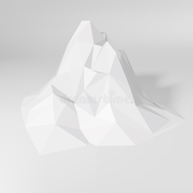 Paysage polygonal de montagne illustration libre de droits