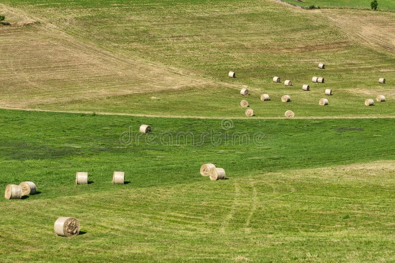 Paysage près de Cerrina, Monferrato, Italie photos stock