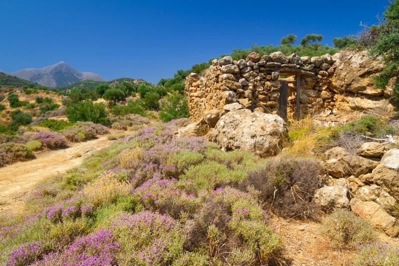 Paysage Rocheux De Crète Images libres de droits