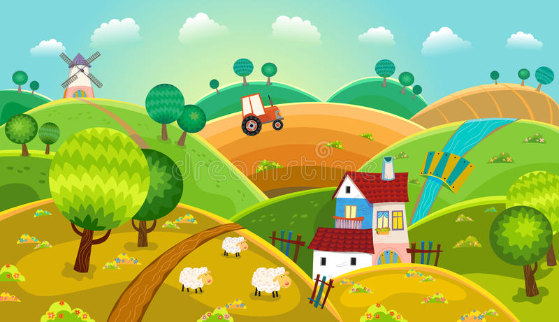Paysage rural illustration stock