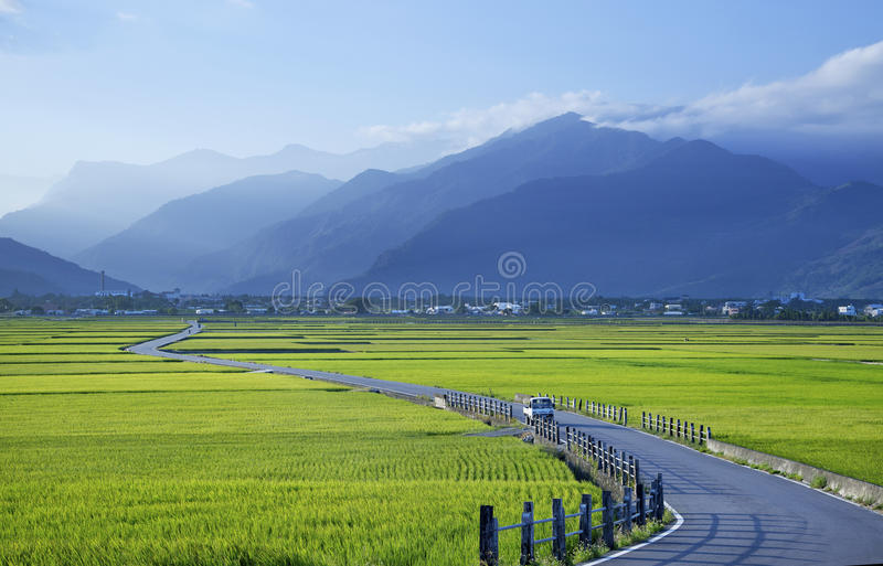 Paysage rural de Taïwan images stock