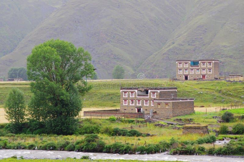 Paysage rural du Thibet image stock