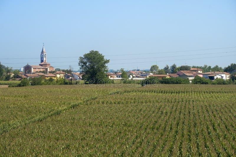 Paysage rural le long du chemin de cycle de PO photographie stock