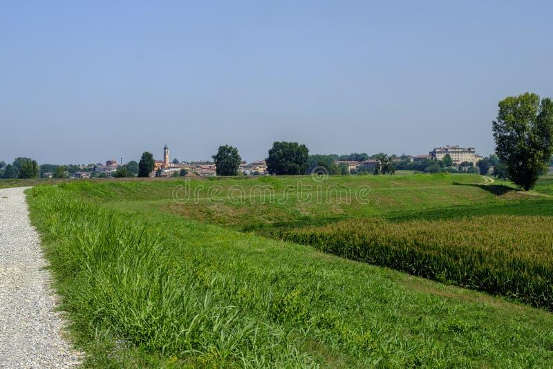 Paysage rural le long du chemin de cycle de PO image stock