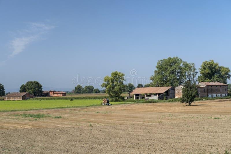Paysage rural le long du chemin de cycle de PO images libres de droits