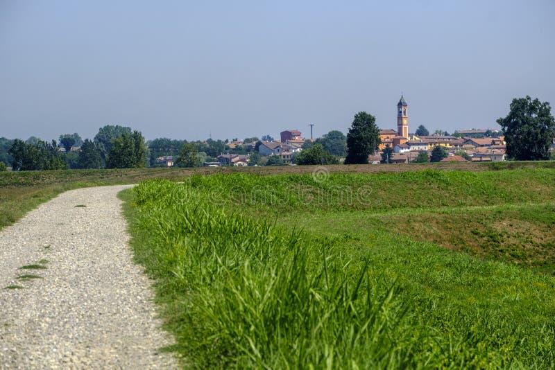 Paysage rural le long du chemin de cycle de PO photographie stock libre de droits