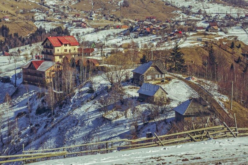 Paysage rural pendant le dégel de ressort image libre de droits