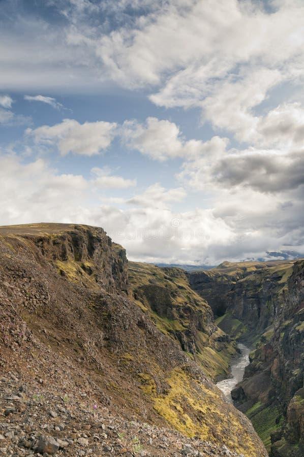 Paysage sauvage de l'Islande images libres de droits