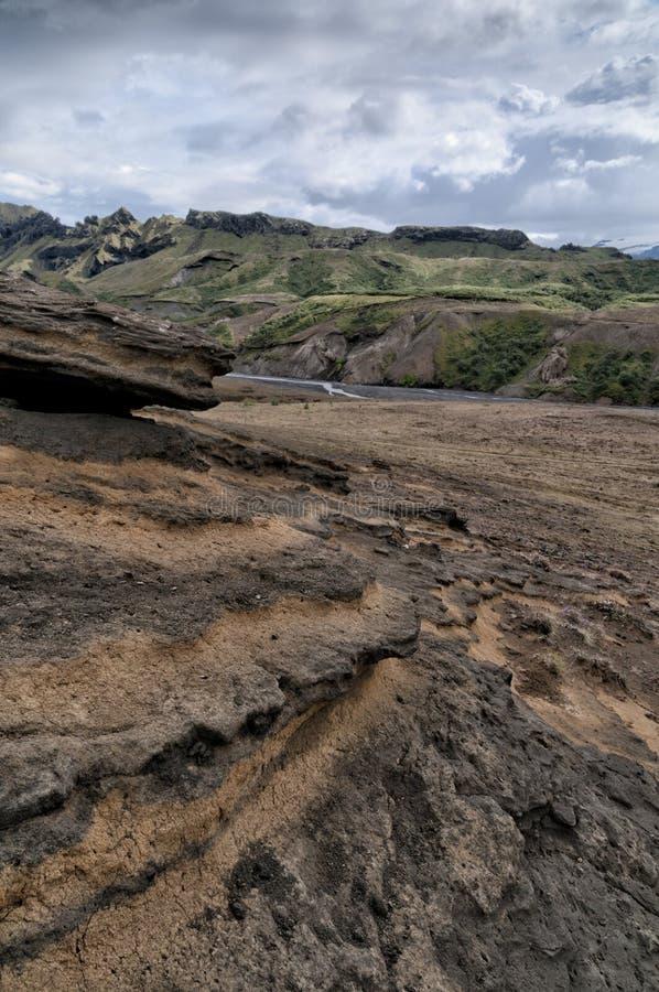 Paysage sauvage de l'Islande photographie stock libre de droits