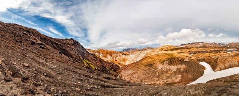 Paysage sauvage de voyage de l'Islande Landmannalaugar images stock