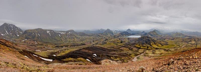 Paysage sauvage de voyage de l'Islande Landmannalaugar photographie stock libre de droits