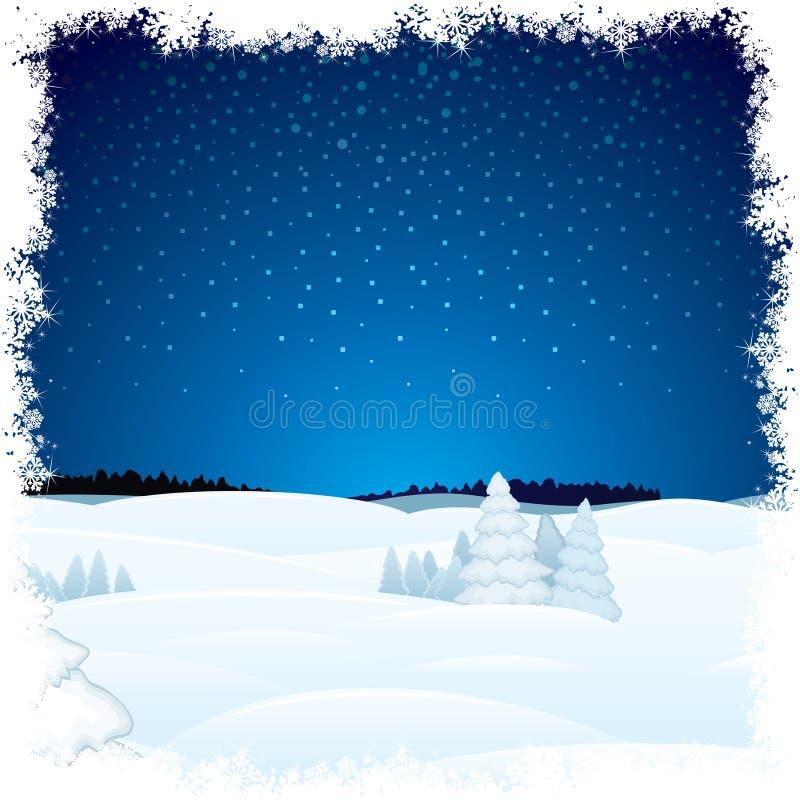 Paysage scénique d'hiver illustration de vecteur