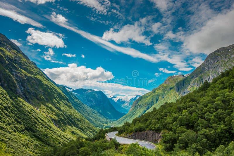 Paysage scénique de la Norvège photographie stock