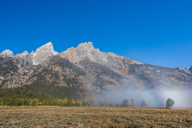 Paysage sc?nique de Teton en automne image libre de droits