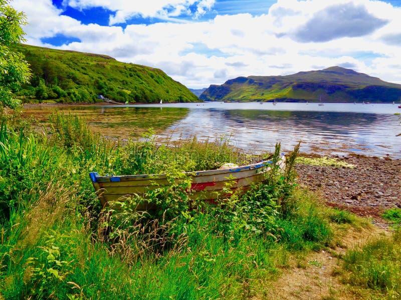 Paysage serein sur l'île de Skye photographie stock