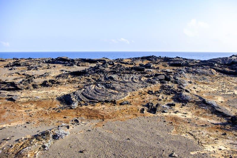 Paysage stérile d'îles de Galapagos photographie stock