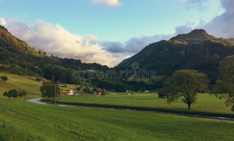 Paysage stupéfiant en Suisse photos stock