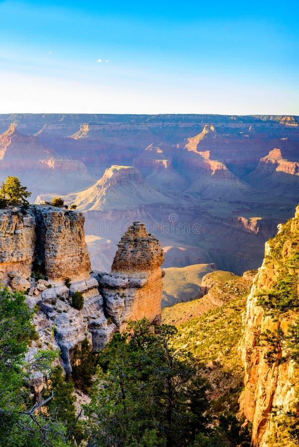 Paysage stup?fiant de paysage au coucher du soleil de la jante du sud du parc national de Grand Canyon, Arizona, Etats-Unis photo libre de droits