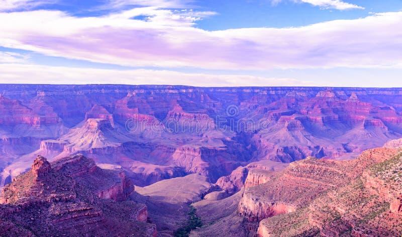 Paysage stup?fiant de paysage au coucher du soleil de la jante du sud du parc national de Grand Canyon, Arizona, Etats-Unis photographie stock