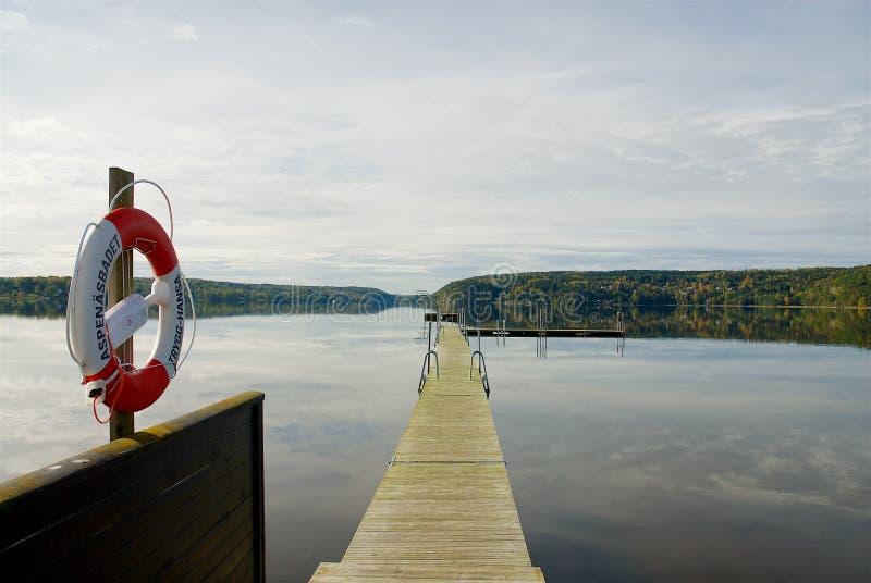 Paysage suédois sur la côte ouest image stock