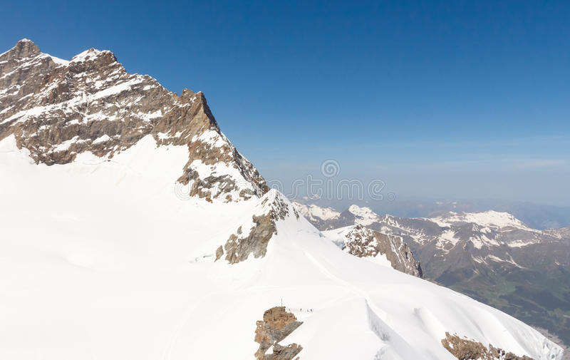 Paysage suisse de montagne d'Alpes, Jungfrau, Suisse photo stock