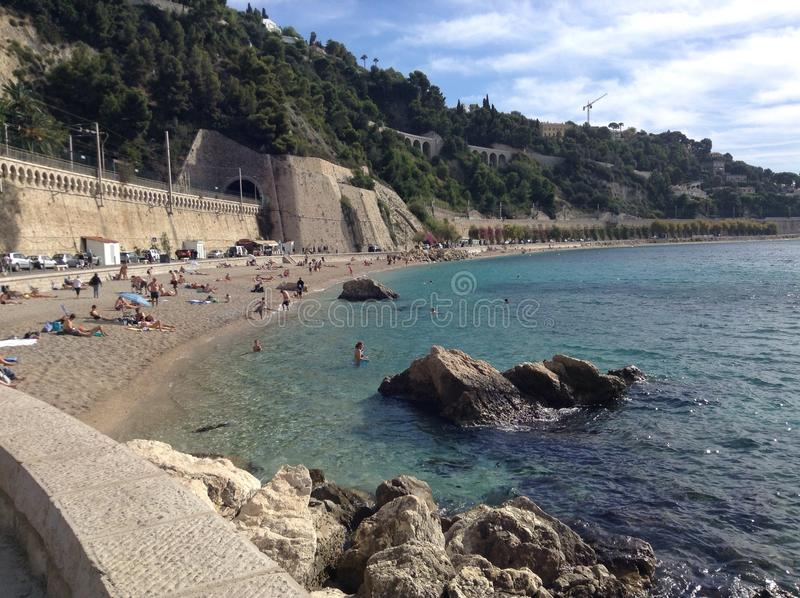 Paysage sur la plage photo stock