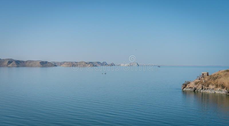 Paysage sur le Lac Nasser images libres de droits