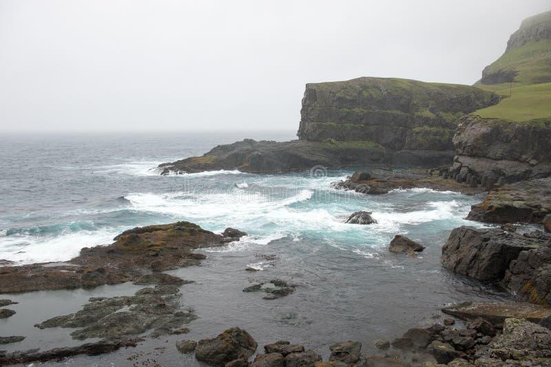 Paysage sur les Iles Féroé image libre de droits