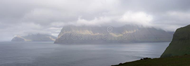 Paysage sur les Iles Féroé photo libre de droits