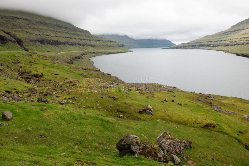 Paysage sur les Iles Féroé photos stock