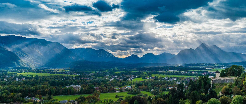 Paysage sur Salzbourg image stock