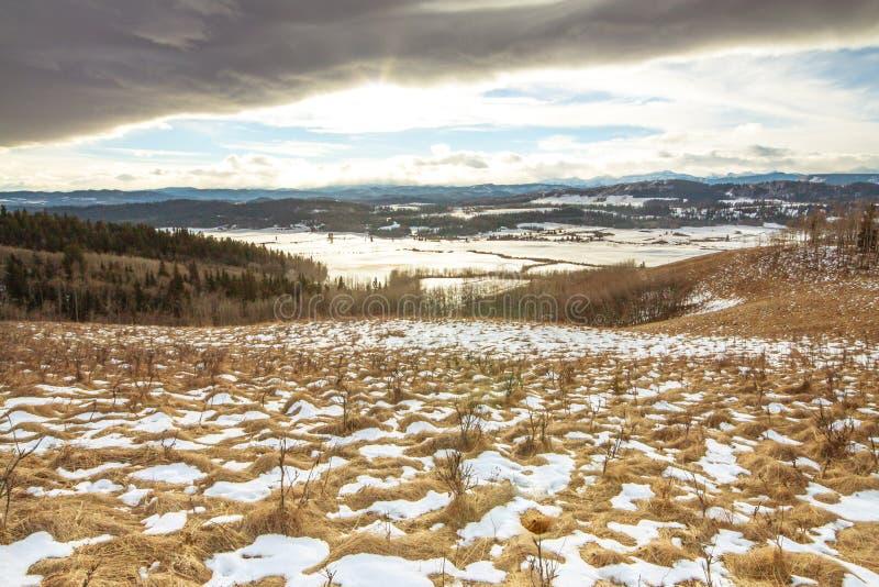 Paysage texturisé de collines d'hiver photos libres de droits