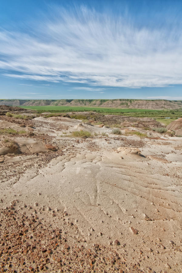 Paysage texturisé des bad-lands photos libres de droits