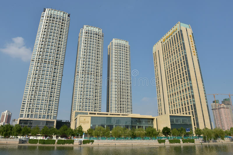 Paysage Tianjin de ville photos stock
