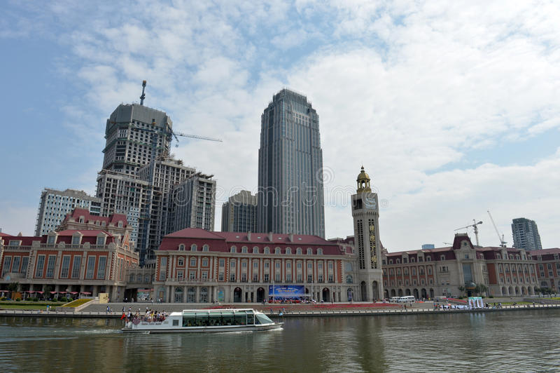 Paysage Tianjin de ville photo stock