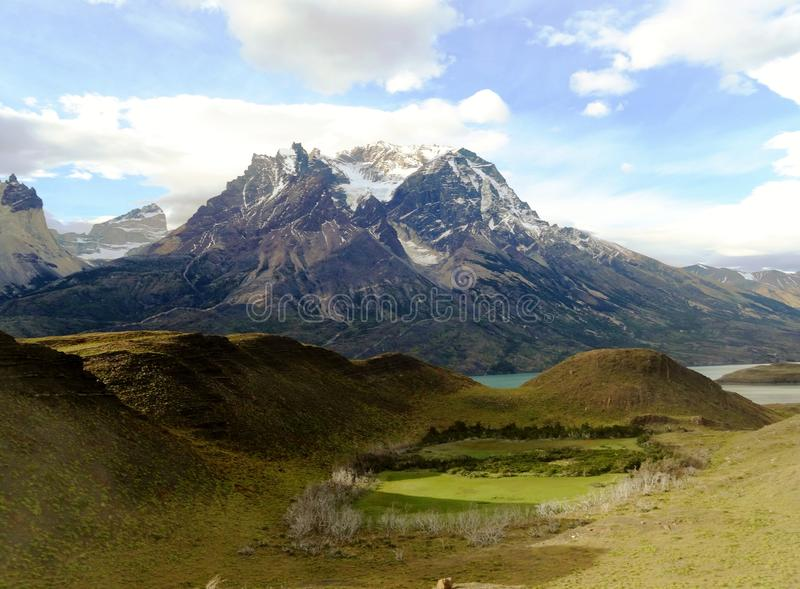 Paysage - Torres del Paine, Patagonia, Chili image stock