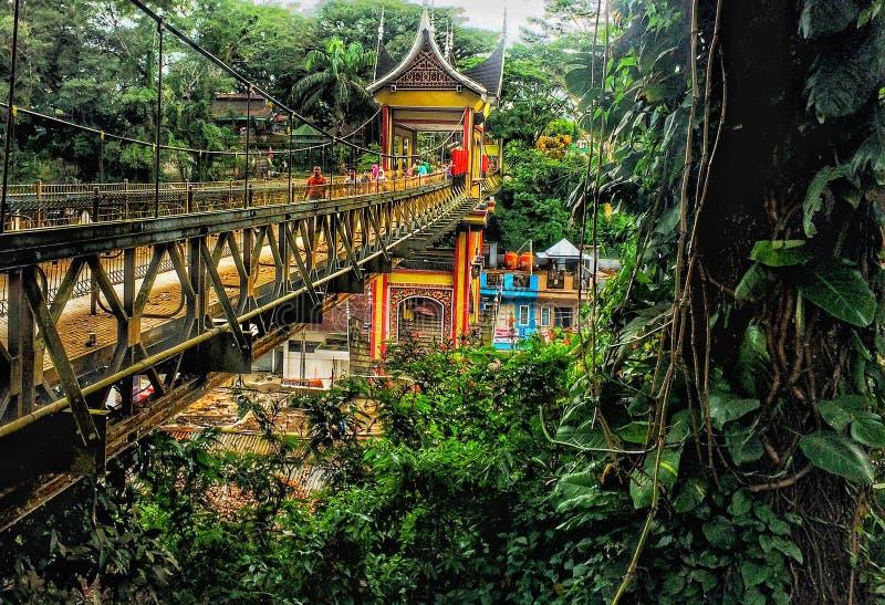 Paysage traditionnel ethnique de pont images libres de droits