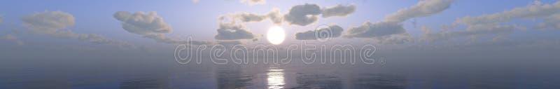 Paysage tropical, plage avec des palmiers au coucher du soleil photographie stock libre de droits