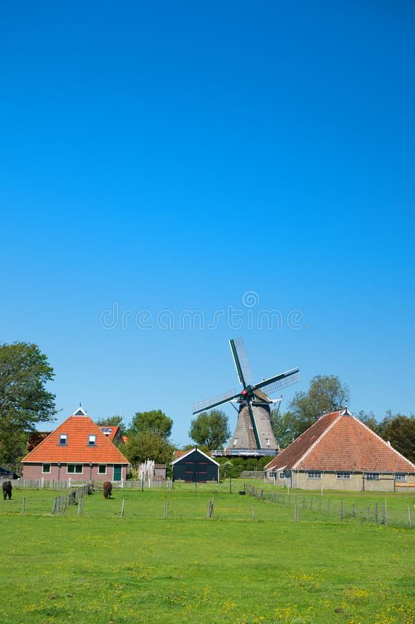 Paysage typiquement néerlandais photo libre de droits
