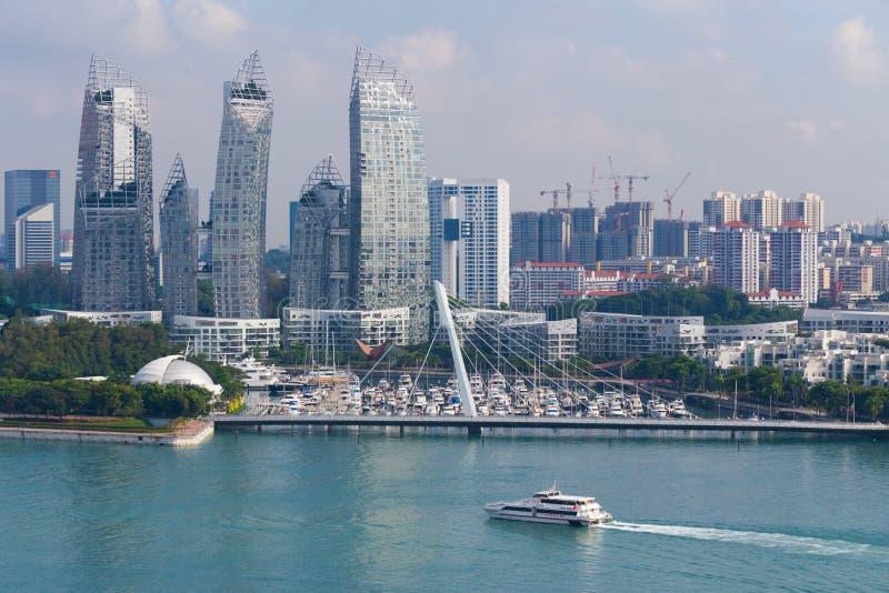 Paysage urbain à Singapour images stock
