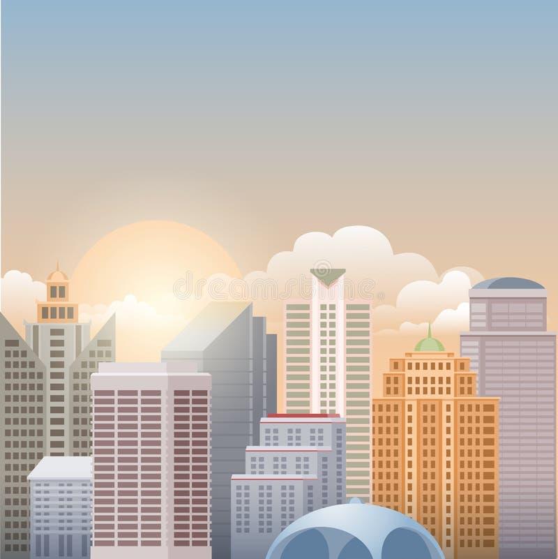 Paysage urbain illustration de vecteur