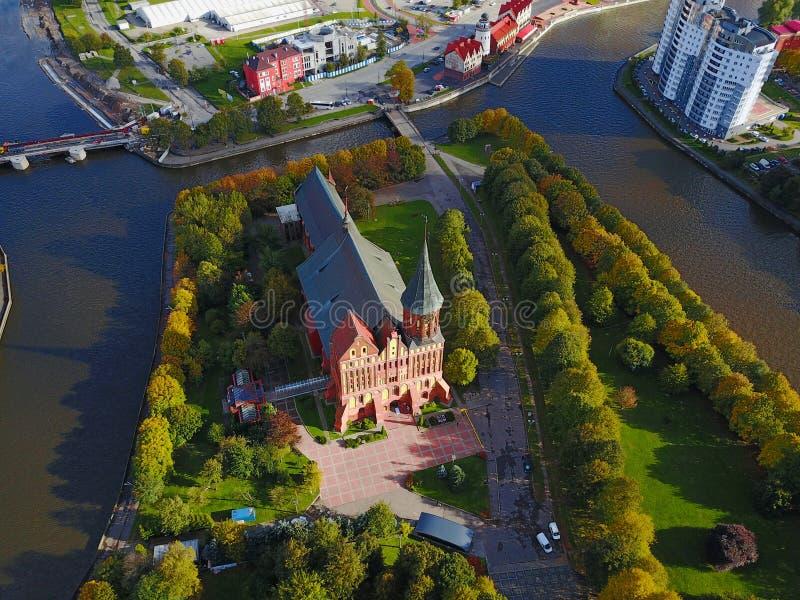 Paysage urbain aérien de Kaliningrad, Russie, l'Europe image libre de droits