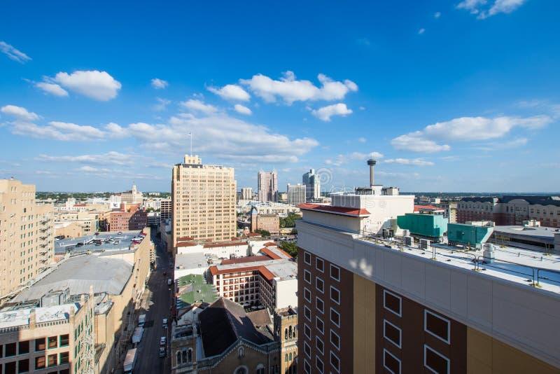 Paysage urbain aérien de San Antonio du centre, Texas Facing Towards E images stock