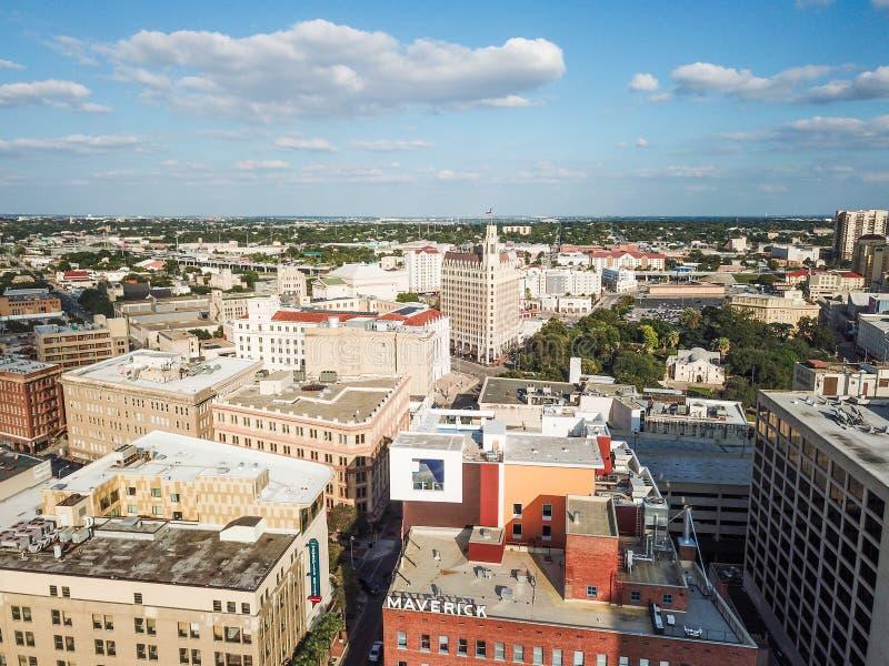 Paysage urbain aérien de San Antonio du centre, Texas Facing Towards E photo libre de droits