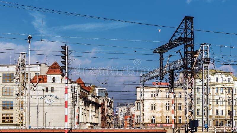Paysage urbain avec le bureau de poste principal image libre de droits