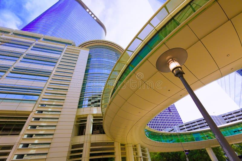 Paysage urbain Bell et Smith St de Houston dans le Texas USA photo libre de droits